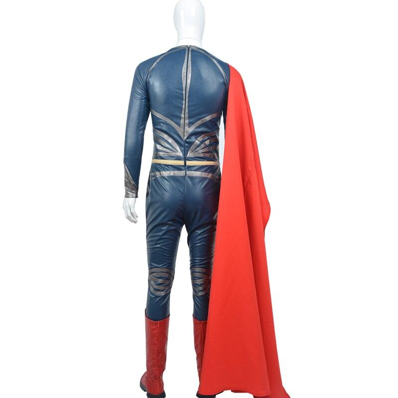 38ee1257cb472 Superman  El hombre de acero Cosplay traje adulto sobretodo de cuero  fantasia Halloween traje para hombres Clark Kent traje en Disfraces TV y  películas ...