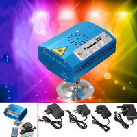 Mini Bluetooth LED Stage Light R G Laser Stage Lighting Effect USB SD Projector Disco X