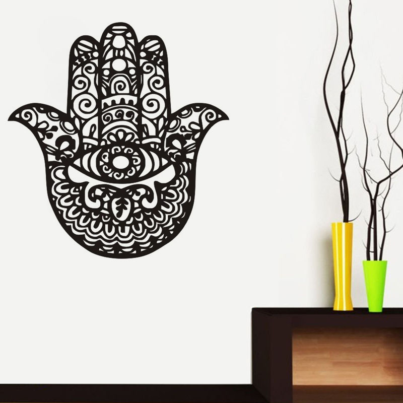 Creative Retro Lucky Hand Pattern Wall Sticker Funny Hand Palm Wall Decal for Home Decoration DC8174