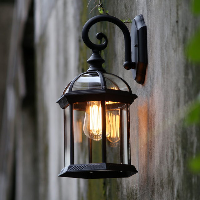 Outdoor industrial waterproof wall lamps retro loft vintage bar porch hallway edisonwall lights