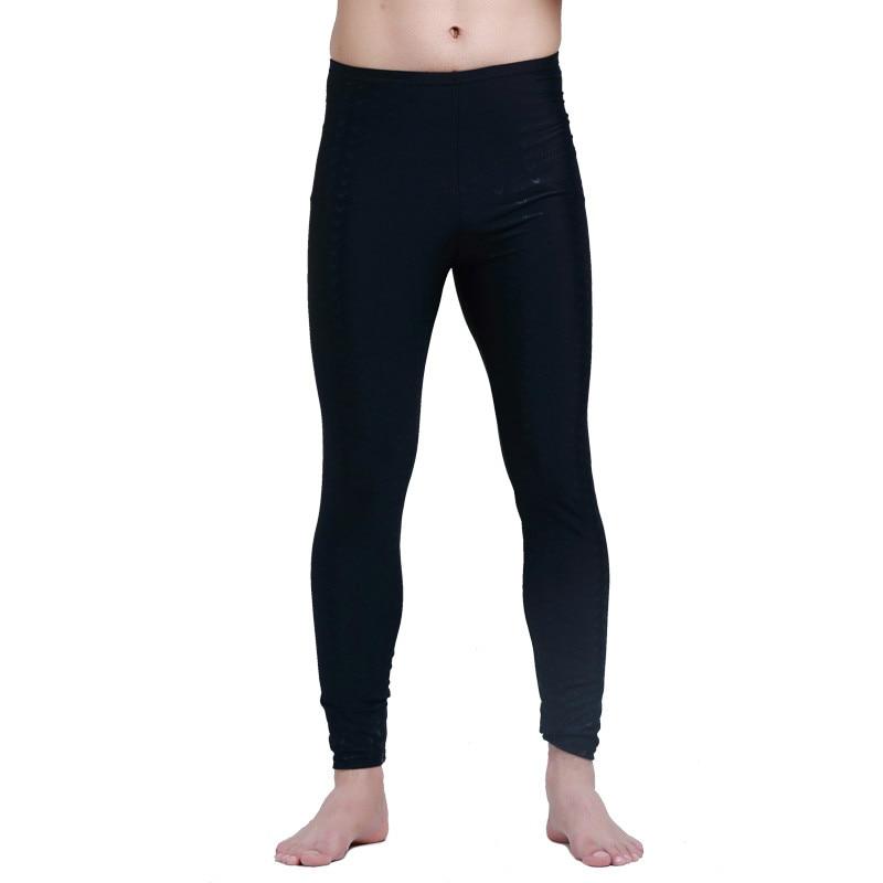 SBART Men Rash Guard Tight Fitness Pant Leggings Anti-UV Lycra Rashguard Full Length Black Solid Surf Pants Swimwear Quick Dry