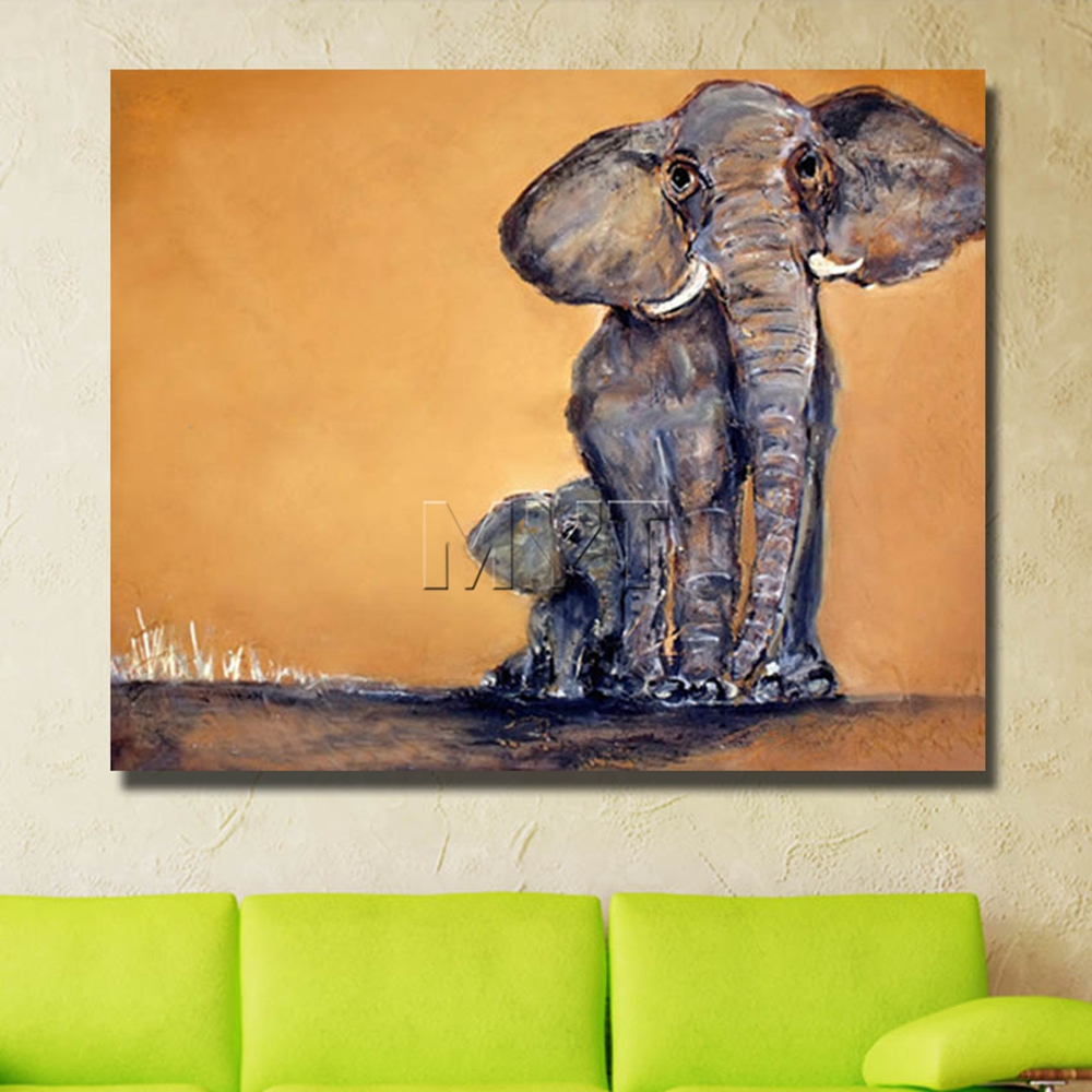 Wall art elephant - Aliexpress Com Buy Wholesale Canvas Frames Wall Art Oil Painting Decor Home Pictures With Framework Painting Animal Art Elephant Pictures From Reliable