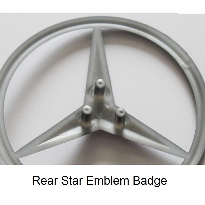 Matt Black Trunk Rear Star Badge Emblem Emblems Badges for Mercedes Benz AMG W176 W117 W204 W205 W212 W213 W221 W222 W164 W253 2x white canbus led door courtesy footwell vanity mirror trunk lights for mercedes w204 w212 w207 w221 w216 r230 w251 w164 w463