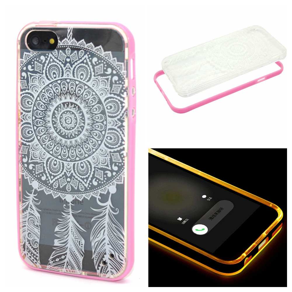 New Hot 2in1 Calling LED Flash Design 3D For Coque Apple iphone 5 5S Case Para