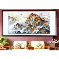 Chinese Painting Calligraphy And Painting Landscape Living Room Painting Feng Shui Landscape Painting 2