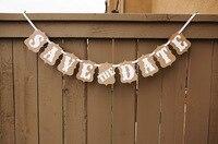 SAVE THE DATE Vintage Wedding Photo Booth Props Banner Enfeites De Casamento Garland Casamento Gift