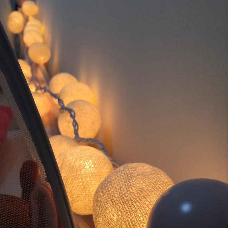 5m 28LED lampu tali garland hangat, AC110V / 220V, cahaya lampu tali - Pencahayaan perayaan - Foto 5