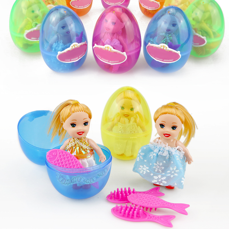 1Pcs Kids Toys Princess Baby Dolls Mini Surprise Doll For Girls Magic Egg Ball Playhouse Cartoon Action Figure Funny Gift