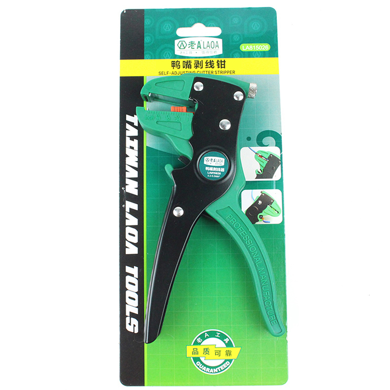 Купить с кэшбэком LAOA Automatic Wire Stripper Universal Duckbill Electric Wires Stripping Pliers Cable Crimper Strippers Tools Made In Taiwan
