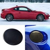 3D Real Carbon Fiber Gas Fuel Cap Door Cover Pad Sticker Decal For Toyota 86