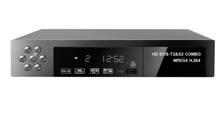 2017 new  HD Digital DVB-T2 DVB-S2 Combo DVB-T DVB-S2television receiver set-top box for TV mini hd dvb t2 terrestrial digital tv receiver support 3d black