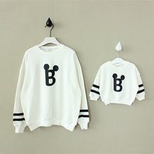 2015 new autumn paragraph childrens clothing for boys and girls letters printed cotton family mother daughter clothes