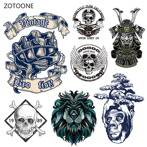 ZOTOONE Horror Fist Iron on Transfer Patches Stripes on Clothing Diy Patch Heat Transfer for Clothes Decoration Stickers Gift G