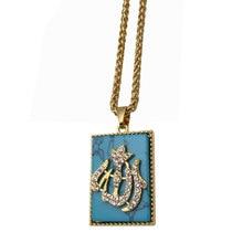 Кулон и ожерелье мусульманского Аллаха, очаровательный кристалл, подарок ислама и ювелирные изделия, кулон арабского Бога