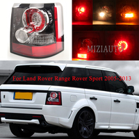 MIZIAUTO Led Tail Light for Land Rover Range Rover Sport 2005 2013 Taillight Rear Brake Fog Drl Lamp ABS Car Styling Left Right