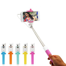 Hot Universal Candy Mini Selfie Sticks Monopod Wired Extendable Palo Selfie for iPhone 7 Plus HUAWEI
