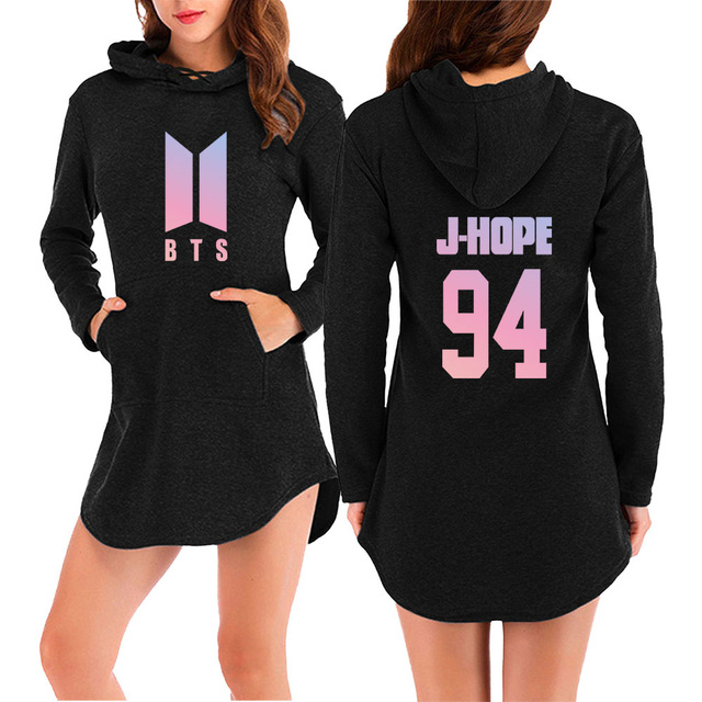 BTS MEMBER HOODED DRESS (28 VARIAN)