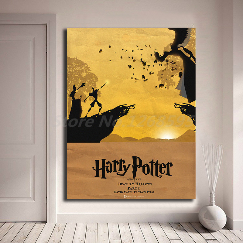 Harry Potter Bedroom Decorating Ideas Modern One Bedroom Apartment Design Black Leather Bedroom Suite Bedroom Colours For Dark Rooms: Harry Potter And The Deathly Hallows Part 1 HD Canvas