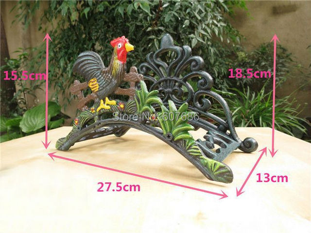 Cast Iron Water Hose Holder Wall Mounted Cock Hose Hanger Storage Metal  Home Garden Yard Country
