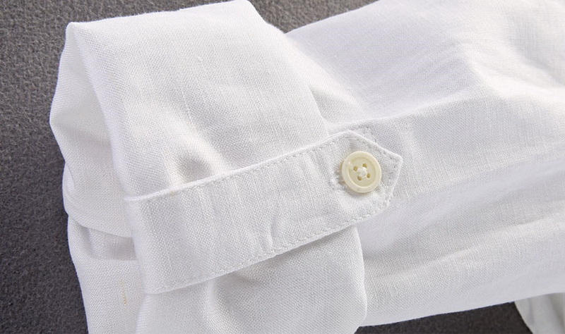 Brand Shirt Men Casual Slim Fit Designer Meeste särk Pikkade - Meeste riided - Foto 4