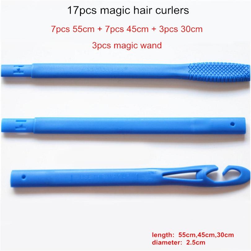 17Pcs / Set Аралас 55cm 45cm 30cm Magic No Heat Long Ұзын - Шаш күтімі және сәндеу - фото 1