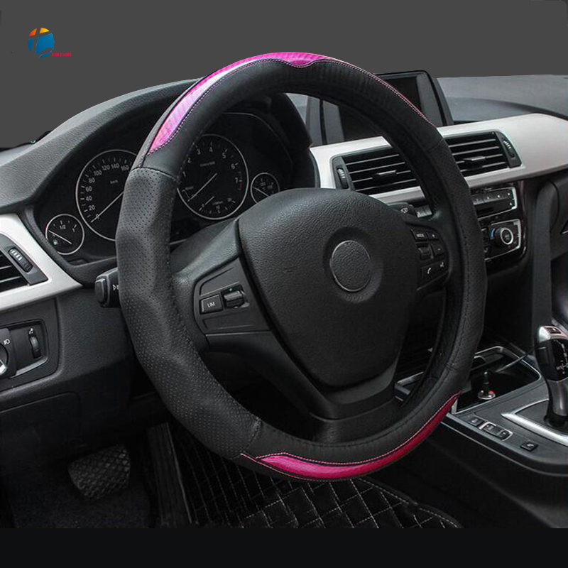 Taitian Fashionable Wear-resistant 38 cm Steering Cover Non-slip Skin Feel Car Steering Wheel Covers Car-styling Accessories