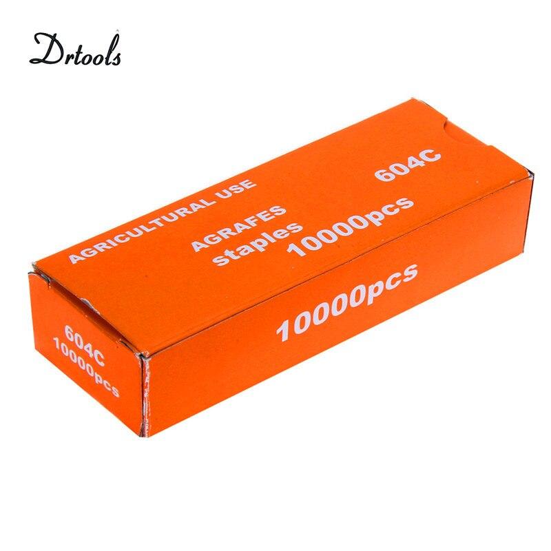 10000pcs-pack Tapetool Tapener Tying Staple Pin Nail Tape Tool Fruit Tree Secateurs Machine Pack Plant Garden Trunk ConnectGT031