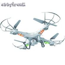 Abbyfrank 2.4G Télécommande Hélicoptère Drone Caméra RC HD Hélicoptère X5C 4 CH 6 Axe Gyro Quadcopter Caméra 2MP HD Dron RC jouet