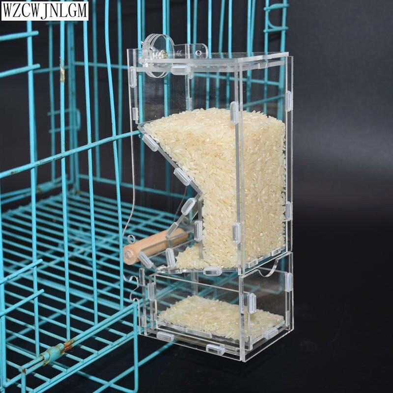 Alimentadores automáticos de aves, equipo para aves de Starling, herramientas de dieta, alimentador de pájaro pequeño, nuevos contenedores transparentes de comida para aves, 2 uds|Alimentación de pájaros|   - AliExpress