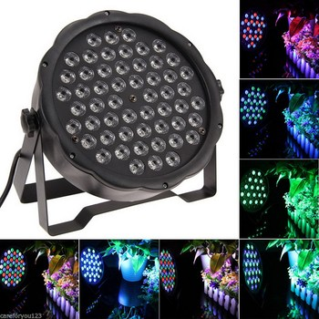 1 PC Verlichting Par Led DJ PAR 54x3 W LED Licht 8CH RGBW PAR 64 DMX512 DJ Stage party Show Verjaardag Decoratie P25new Toneelbelichtingseffecten    -
