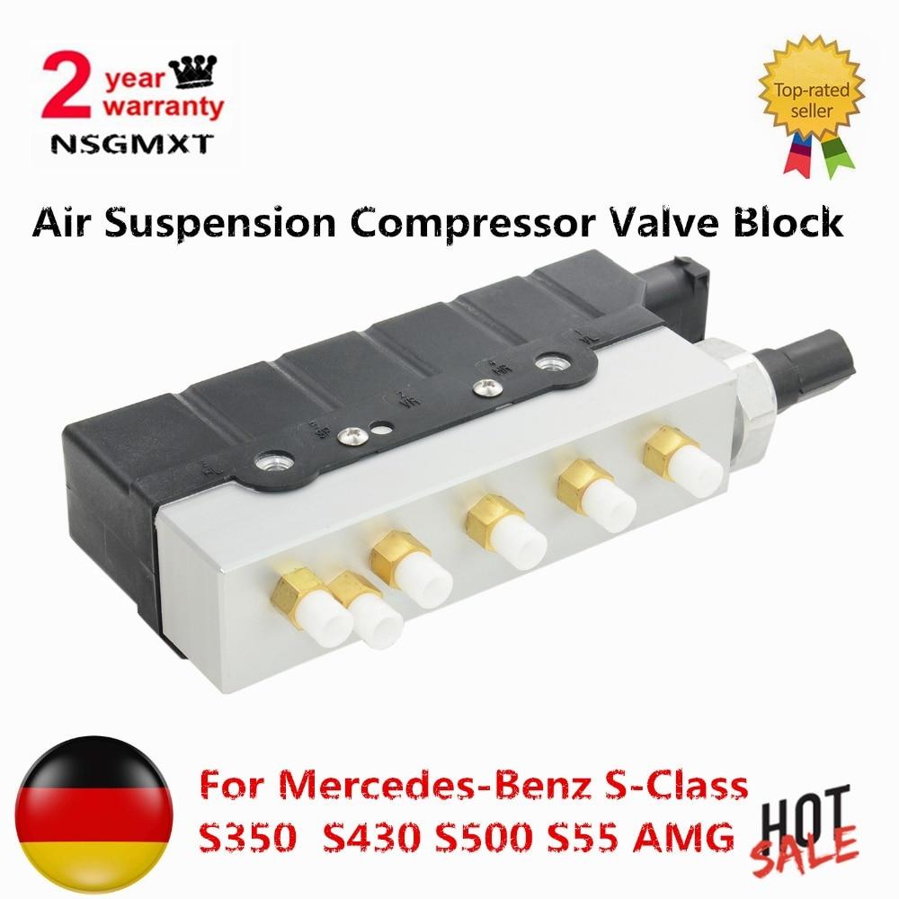 Suspension pneumatique Compresseur Valve Bloc De Mercedes-Benz S-Classe S350 S430 S500 S55 AMG S600 S65 AMG w220 2203200258