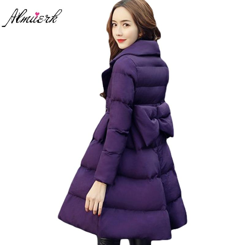 New Down cotton Coat Winter Female 2017 Jackets Slim Warm   Parkas   Women Thick outerwear cute winter Padded Jacket S-2XL YZ390
