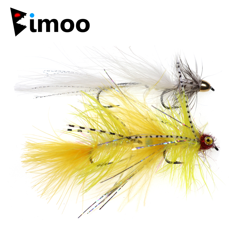Fly Fishing Flies Bead Head Laineux bougre Olive 6 mouches Bass, brème, truite