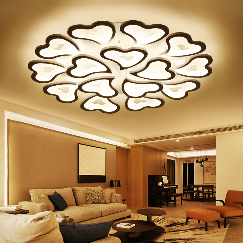 Abajur Chandelier for Living Room Bedroom House AC85-265V Modern LED Ceiling Lamp Fixtures Free Shipping
