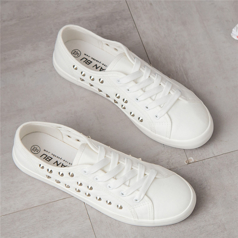 Sneakers women White Leisure walking shoes 2018 Non-slip canvas Female White Board spring casual for woman size 35-44 ...