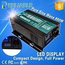 800 Вт непрерывной от сети постоянного тока инвертор 12 В/24 В/48VDC до 110 В/220VAC DC AC Напряжение конвертер Чистая синусоида солнечный Мощность инвертор
