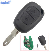 OkeyTech 2 Buttons Car Complete Remote Key Case Shell ID 46 Chip Transmister For Renault Traffic
