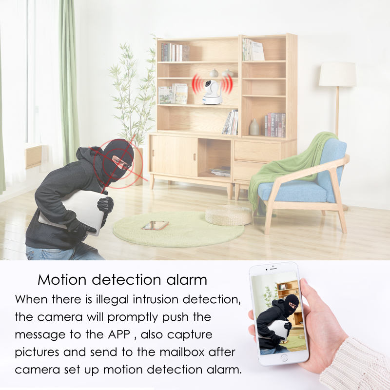 Image 2 - 1080P HD Wifi Camera Network Surveillance Night Camera Indoor Home P2P CCTV Camera Wifi Function Onvif Camera With Two way Audio-in Surveillance Cameras from Security & Protection