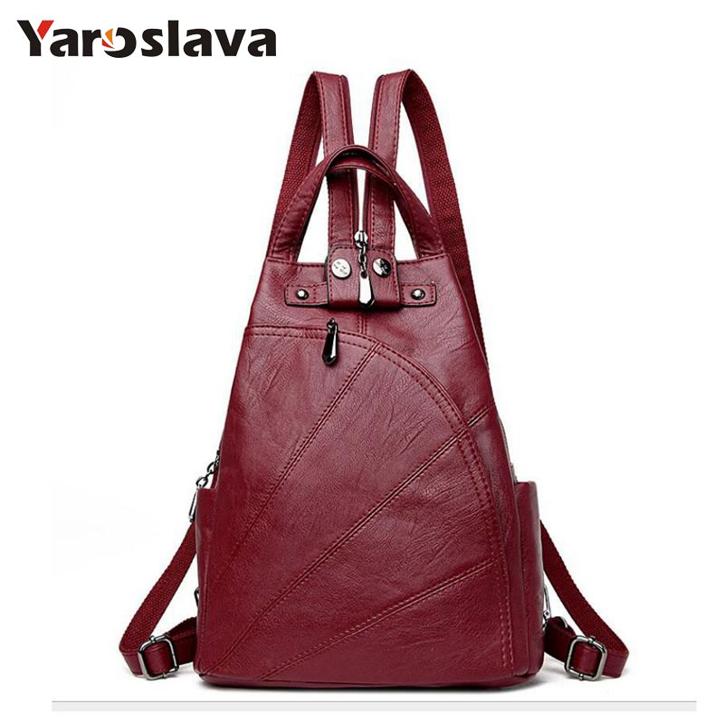 Leisure Women Backpacks Women's PU Leather Backpacks Female school Shoulder bags for teenage girls Travel Back pack LL16 korean women backpacks travel package black soft pu leather shoulder bag schoolbags for teenage girls female leisure bag mochila