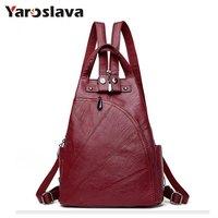 Leisure Women Backpacks Women S PU Leather Backpacks Female School Shoulder Bags For Teenage Girls Travel