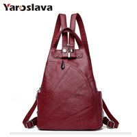Leisure Women Backpacks Women S PU Leather Backpacks Female School Shoulder Bags For Teenage Girls Travel