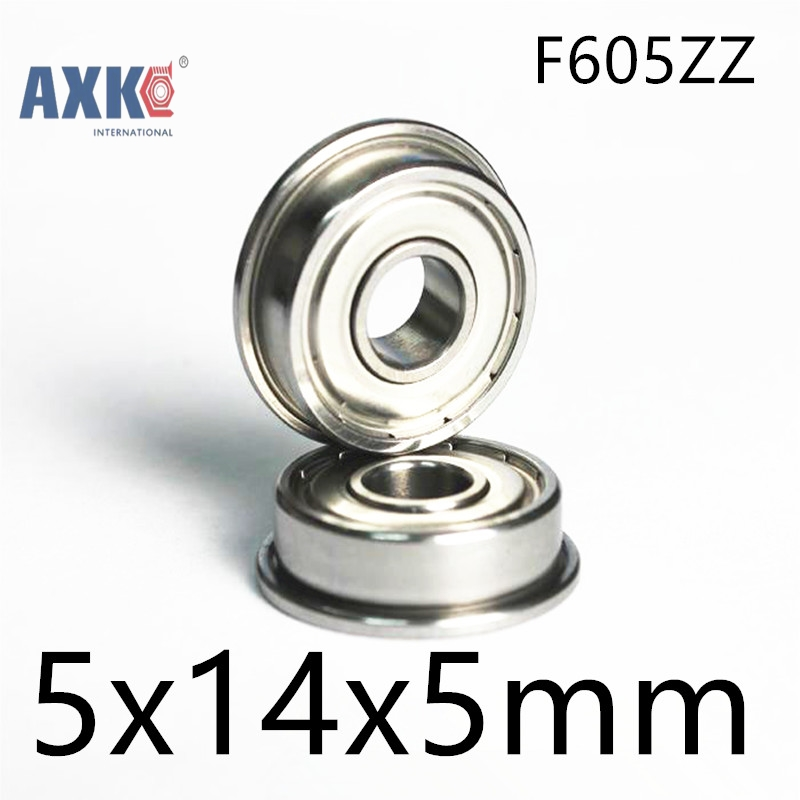 10pcs 5mm F605ZZ 5x14x5mm flange ball bearing deep groove bearing toy car bearing remeza 4 100 lb 30 a