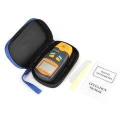 DT2234C + ręczny LCD cyfrowy Mini bezdotykowy laserowy tachometr z aparatem RPM prędkościomierz miernik prędkościomierza 2.5 ~ 99999RPM