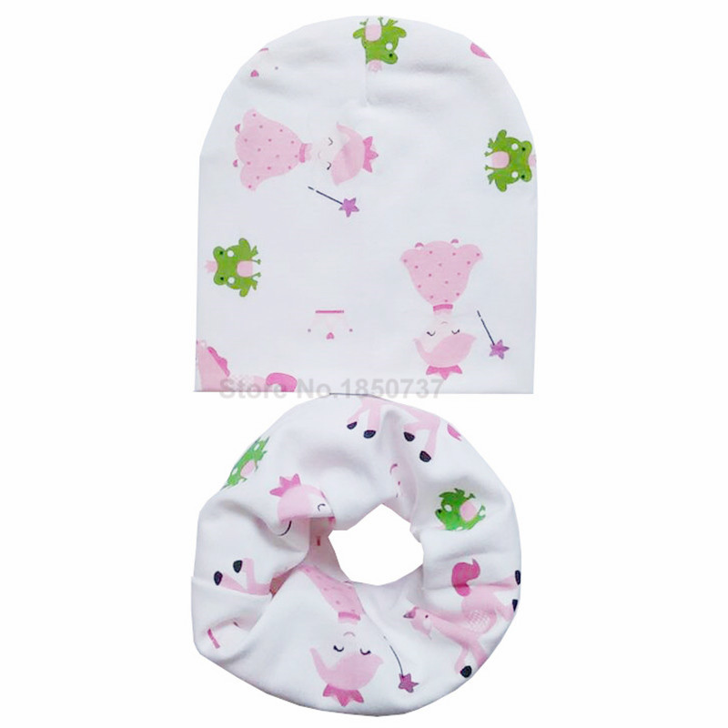 0 to 18M Cotton Infant hats set New Spring Baby Hat Caps Cotton Scarf Collars Chapeau des enfants Bufandas Infantiles in Hats Caps from Mother Kids