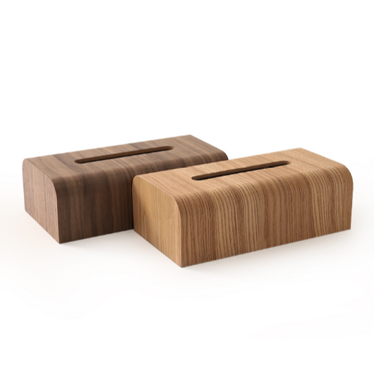 Japanese Style Wooden Tissue Box Household Paper Table Creative
