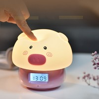 New Pig LED Children's Night Light Baby Child Bedside Lamp Multicolor Silicone Touch Sensor Remote Control Night Light Toy Gift
