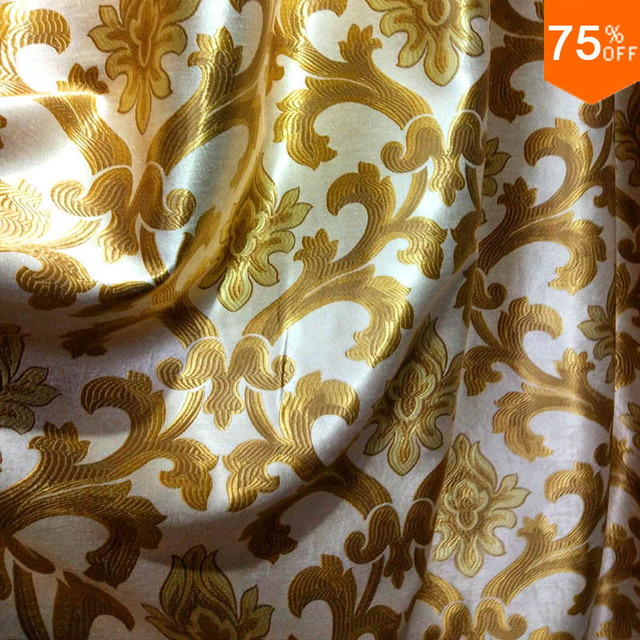 Golden phoenix tail Blackout material wholesale desk cloth window cover blind cover wedding drapes The Curtains Luxurious drapes