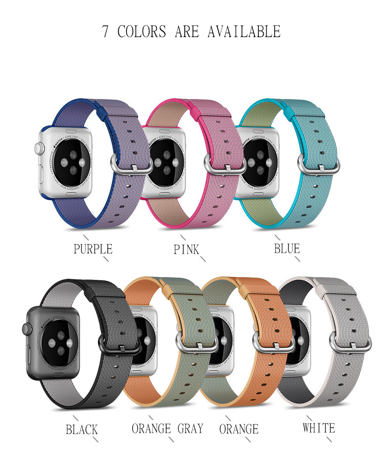 Lamavido Woven Nylon Sports Men Women Watch Bands for Apple Watch 42 mm iWatch Straps Wrist Bracelet Connector for 38mm 42mm ремешок apple 42mm red woven nylon mpw72zm a