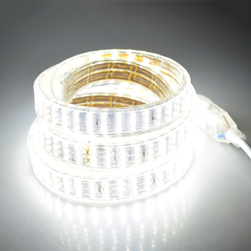 276Leds m SMD 2835 LED Strip 220V Lamp Waterproof Three Row LED Tape Rope Light Flexible LED light Outdoor Decoration Lights