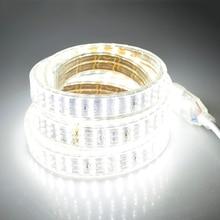 276Leds/m SMD 2835 LED Strip 220V Lamp Waterproof Three Row LED